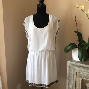 Guess Embellished white dress